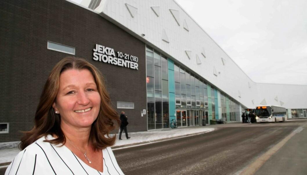 Senterleder Laila Myrvang på Jekta i Tromsø er fornøyd med nye leietakere på senteret.