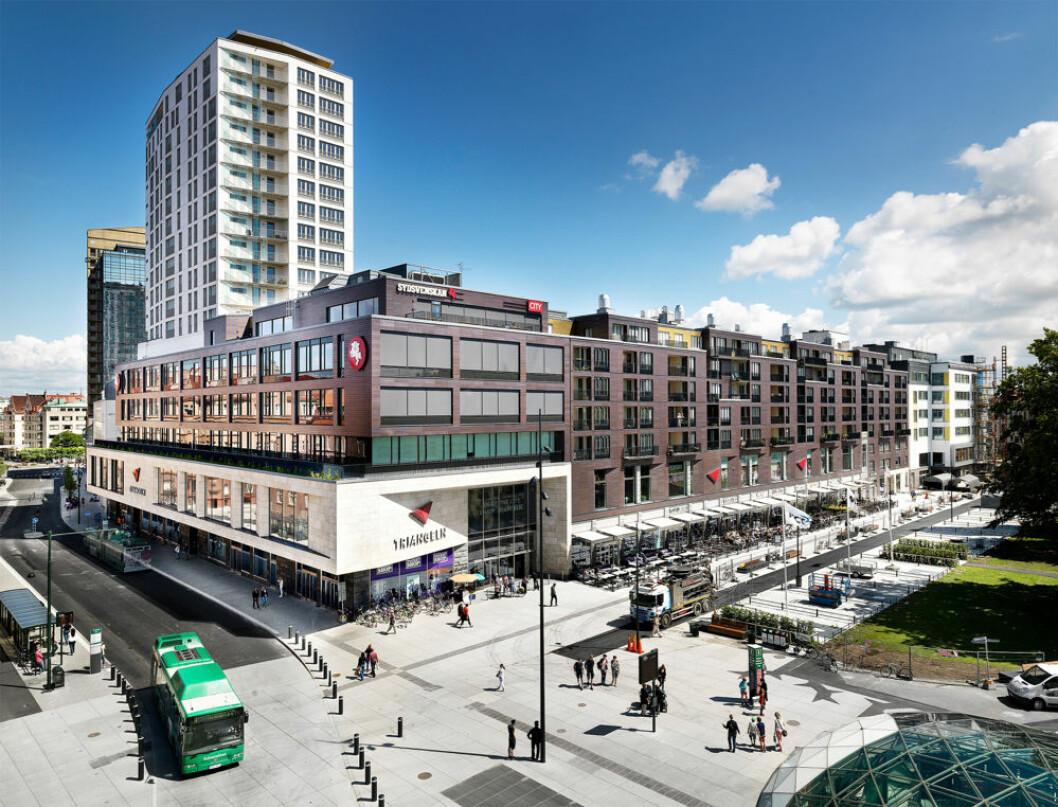 Her, i Vasakronanas Triangeln i Malmö sentrum, skal XXL etablere sin butikk nr. 25 i Sverige. (Foto: Vasakronanas Triangeln)