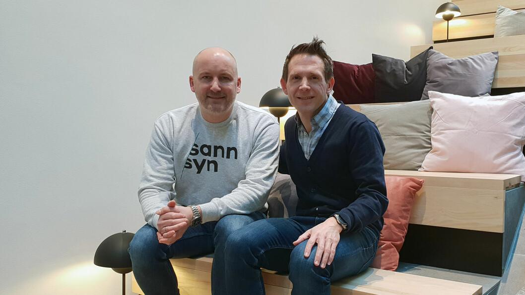 Morten Krogh-Moe og Ole Martin N. Evensmo – nye kolleger i ledelsen av Sannsyn. (Foto: Sannsyn)