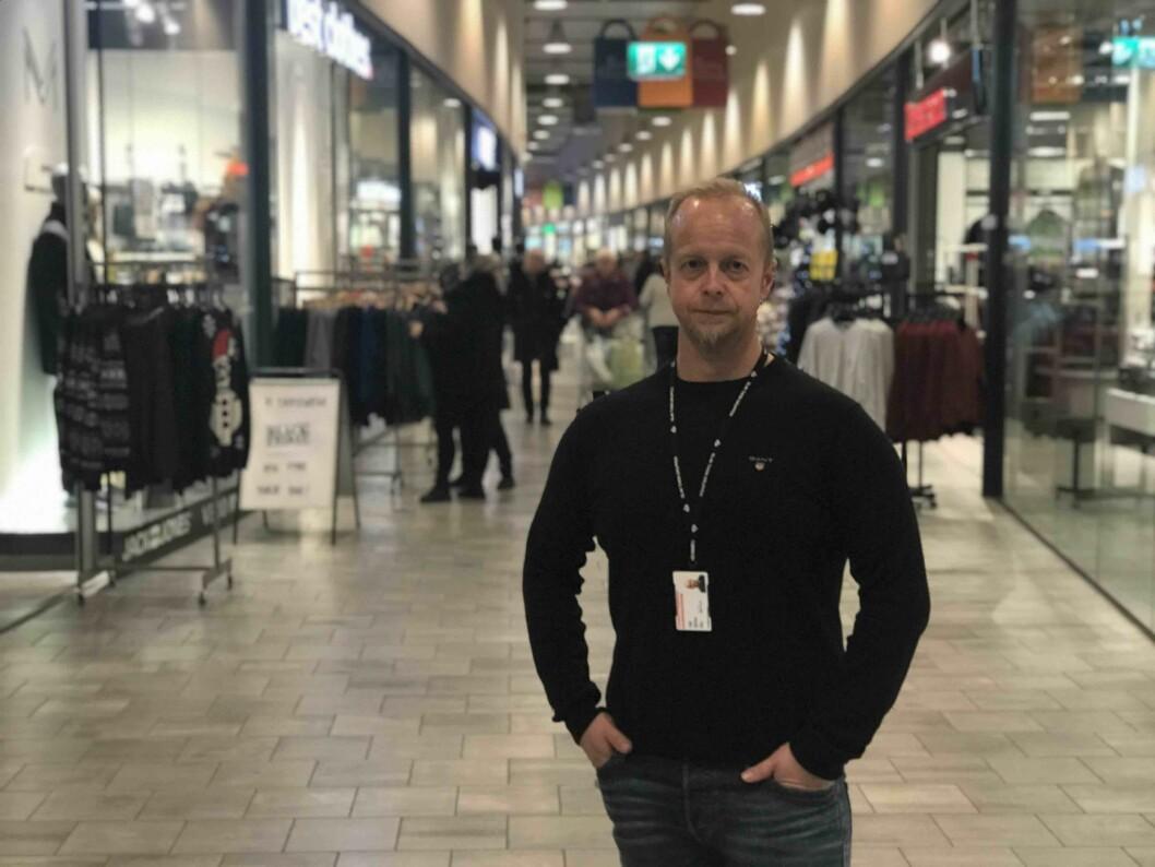 Tore Paulsen er er teknisk sjef for Charlottenbergs Shoppingcenter. Foto: Olav Thon Gruppen