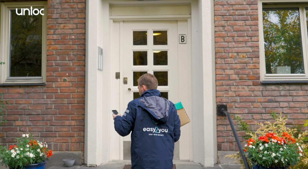Digitale nøkler gjør at Easy2you kan levere pakker når ingen er hjemme. (Foto: Unloc)
