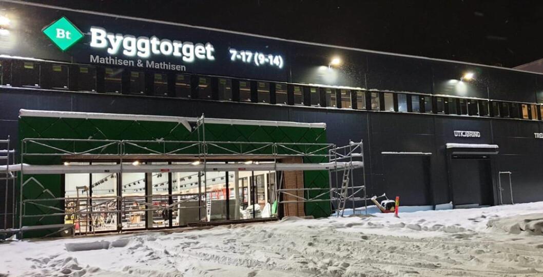 Her åpner et nytt byggevarekonsept med stor festivitas i Narvik i morgen. (Foto: Byggtorget)