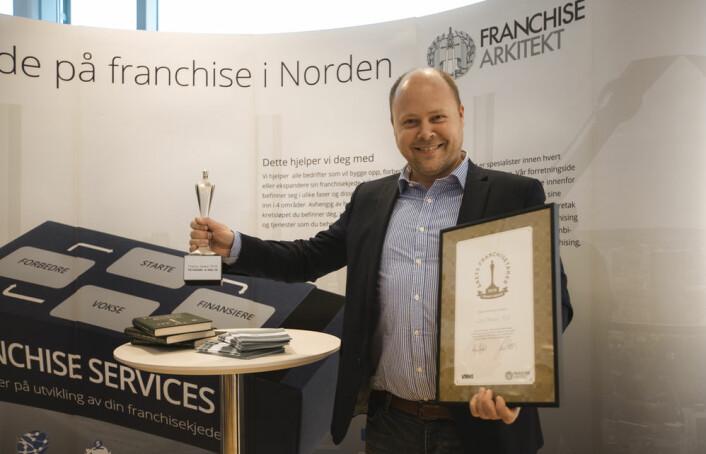 Vinner av Årets Franchisetaker, Jan Stadven, innehaver av Kvik Ski. (Foto: Marthe Buer)