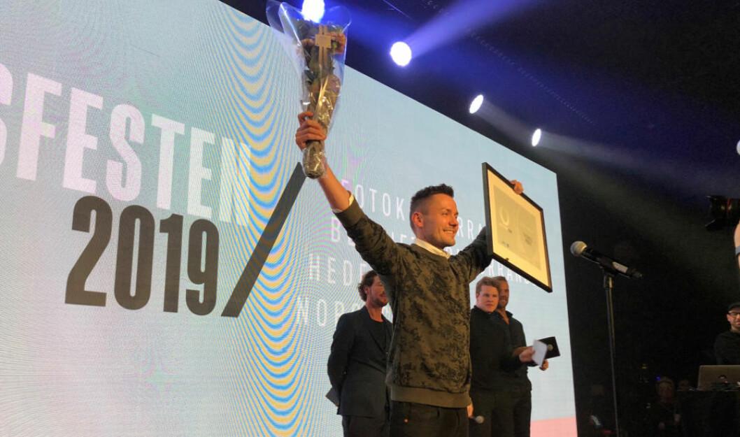 Årets frisør 2019, Thomas Mørk (Foto: NHO Service og Handel)