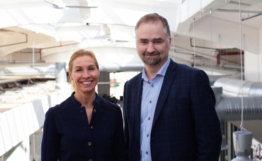 Birgitte Angelil og Marius Valle-Olsen klare for nye utfordringer. (Foto: Creuna)