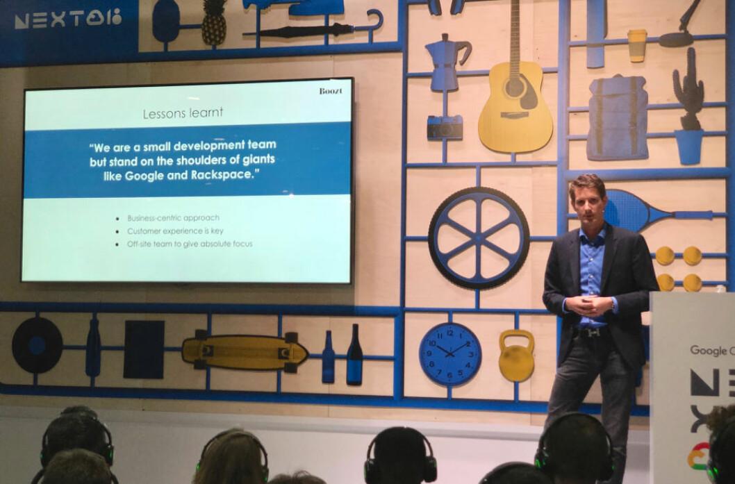 Steffan Mølbæk Andersen, her fotografert på Google Next-konferansen. (Foto: Boozt)