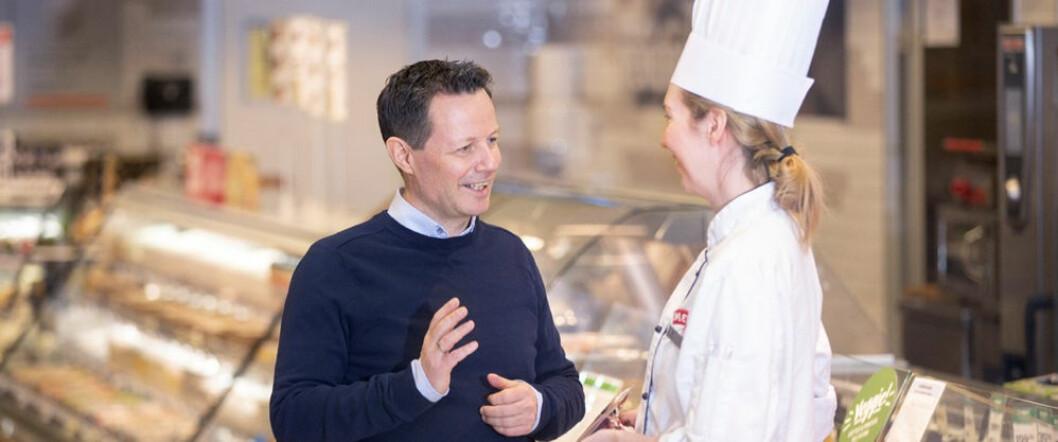 Konsernsjef Runar Hollevik har størst grunn til å glede seg over utviklingen i det norske dagligvaremarkedet i 1. kvartal. (Foto: NorgesGruppen)
