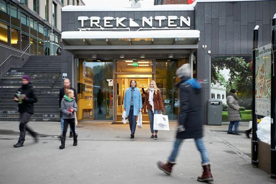 Trekanten i Asker tidlig ute med ny sertifisering. (Foto: Citycon)