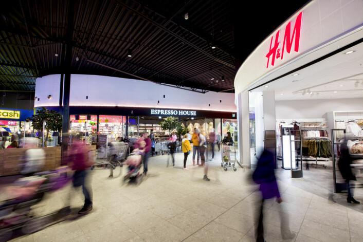 Espresso House og H&M er blant de nye butikkene som har åpnet på Töcksfors.