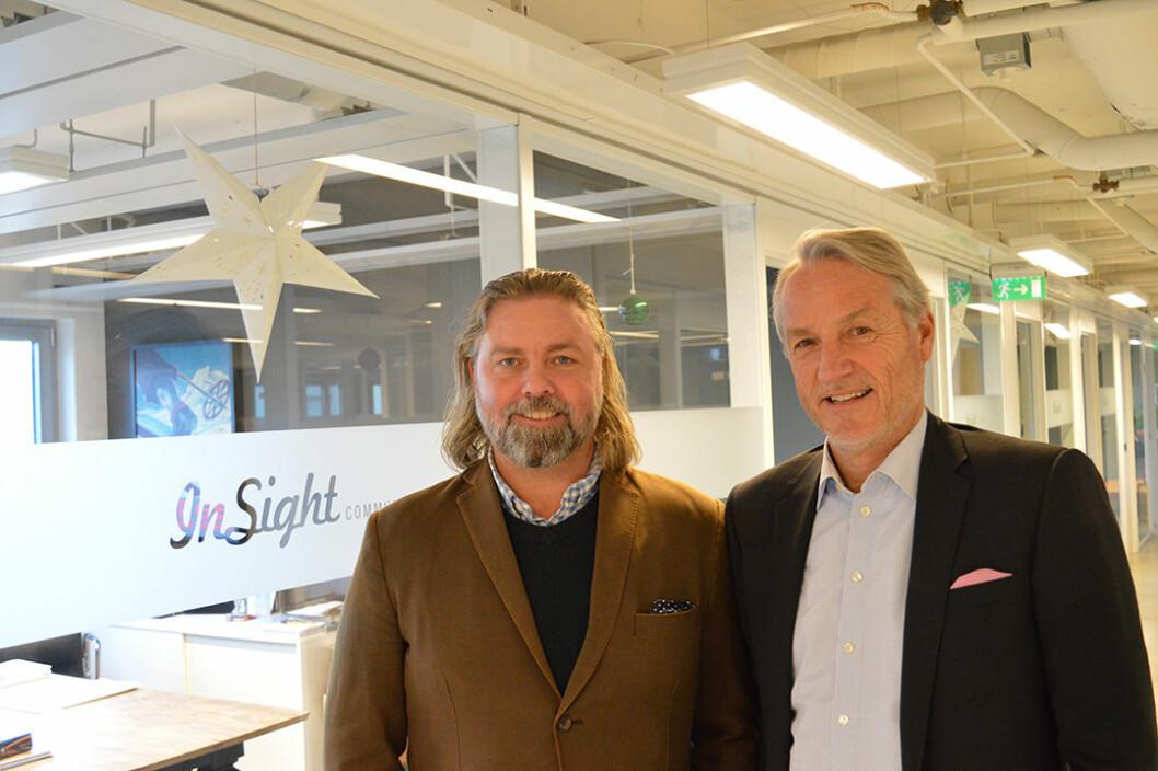 Tor Olav Haugen, ThumbAd, og Geir Kjærnes, In Sight, mener at programmatisk annonsering øker konverteringen.
