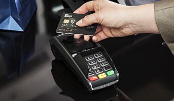 Antall kortkjøp opp 3,4 prosent