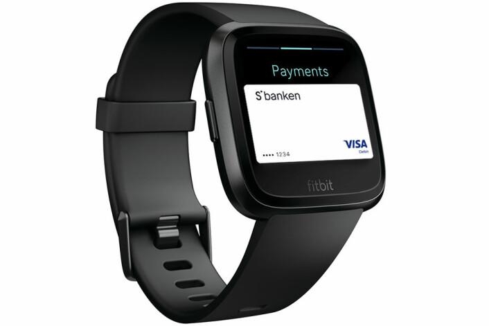 Fitbit Pay med kort.