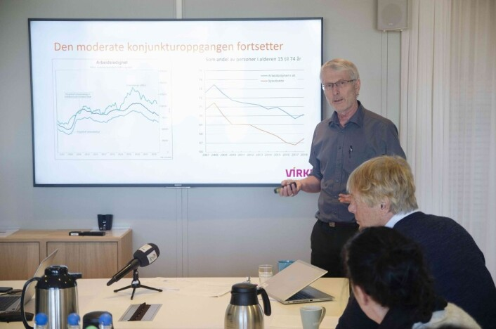 Lars Haartveit er sjeføkonom i Virke. Foto: Virke