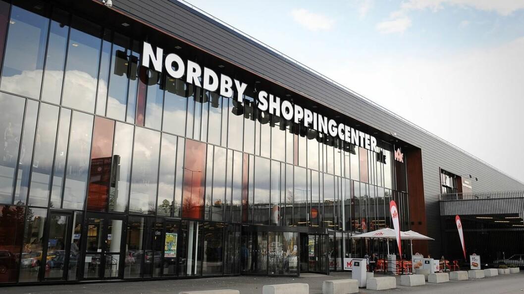 Nordby Shoppingcenter får ikke lov til å utvide før infrastrukturen blir bedre. (Foto: Thon Eiendom)