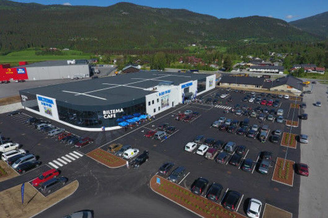 Biltema både i Oppdal og Namsos vil få et tilsvarende konseptvarehus som Biltema i Vinstra som åpnet tidligere i år. (Foto: Biltema)