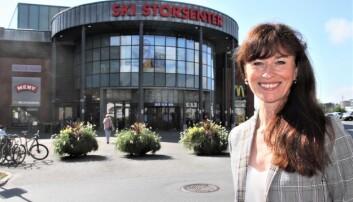 Senterleder Gro Collett ved Ski Storsenter.