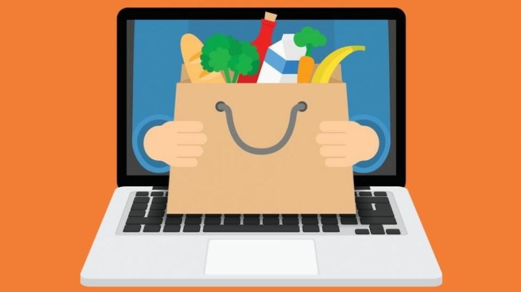 Å gjøre unna dagligvarehandelen på nett blir stadig mer populært. (Illustrasjonsfoto: Colourbox)