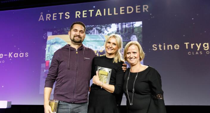Årets retailledere: KarlMunthe-Kaas, Stine Trygg- Hauger og Grete Lekven fra DNB. (Foto: Kilian Munch)