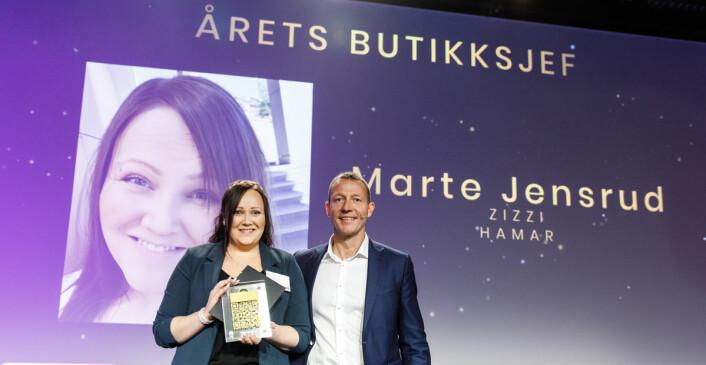 Årets butikksjef: Marte Jensrud og Harald Jachwitz Andersen fra Virke. (Foto: Kilian Munch)