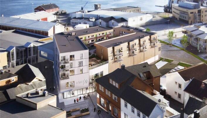 Amfi Vikna med leiligheter på taket er et av Olav Thon Eiendoms pågående prosjekter.