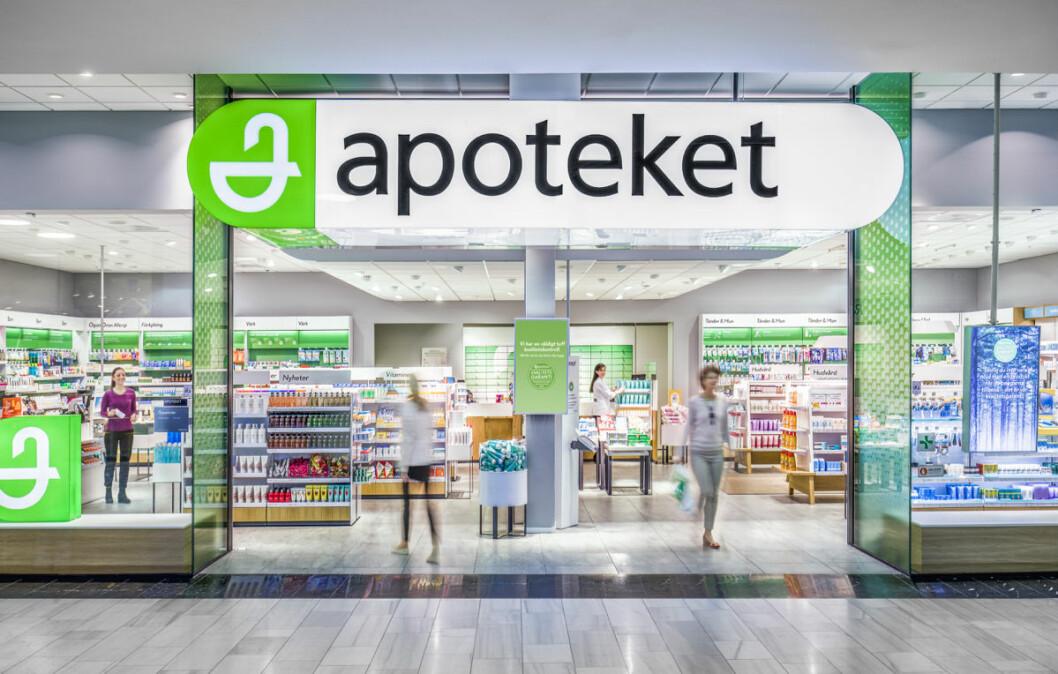 Apotekets profil som nå også er å finne i Nordby. (Foto: Johan Töpel/Apoteket AB)