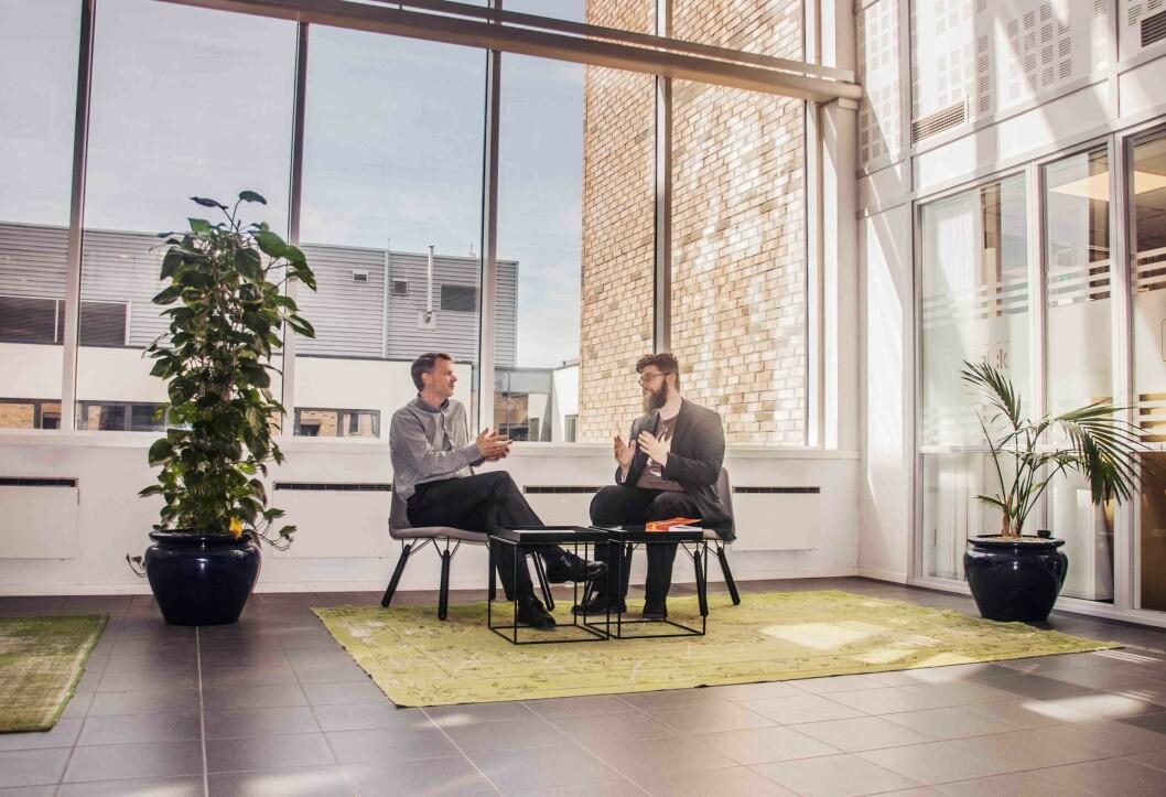 Lars Ove Brenna og Espen Jütte i CPM Analytics tilbyr et verktøy som lar retailere analysere kundepotensialet.