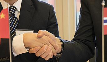 Norge og Kina avtaler patentsamarbeid