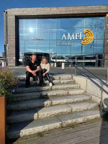 Driftsleder Inge Kjørrefjord og senterleder Elisabeth Stølen styrer driften på Amfi Farsund.