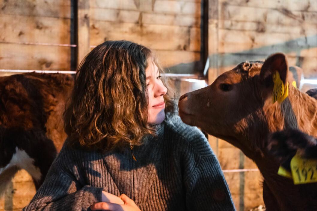 Mariann Solaas, daglig leder i Matfra.no og kalv på Ottestad gård i Kvæfjord. (Foto: Matfra.no)