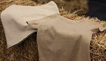 Lanserer klær av hvetehalm
