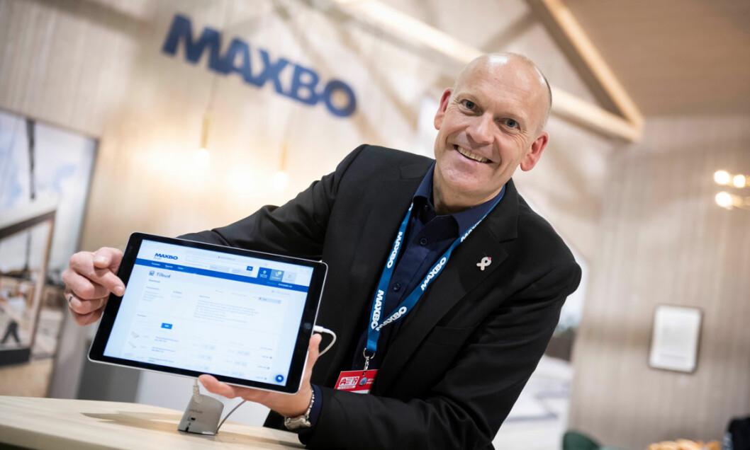 Nils Arne Honningsvåg med den digitale proff-løsningen 'Min bedrift': – Antall brukere øker stadig, men det går veldig sakte. (Foto: Katrine Lunke)