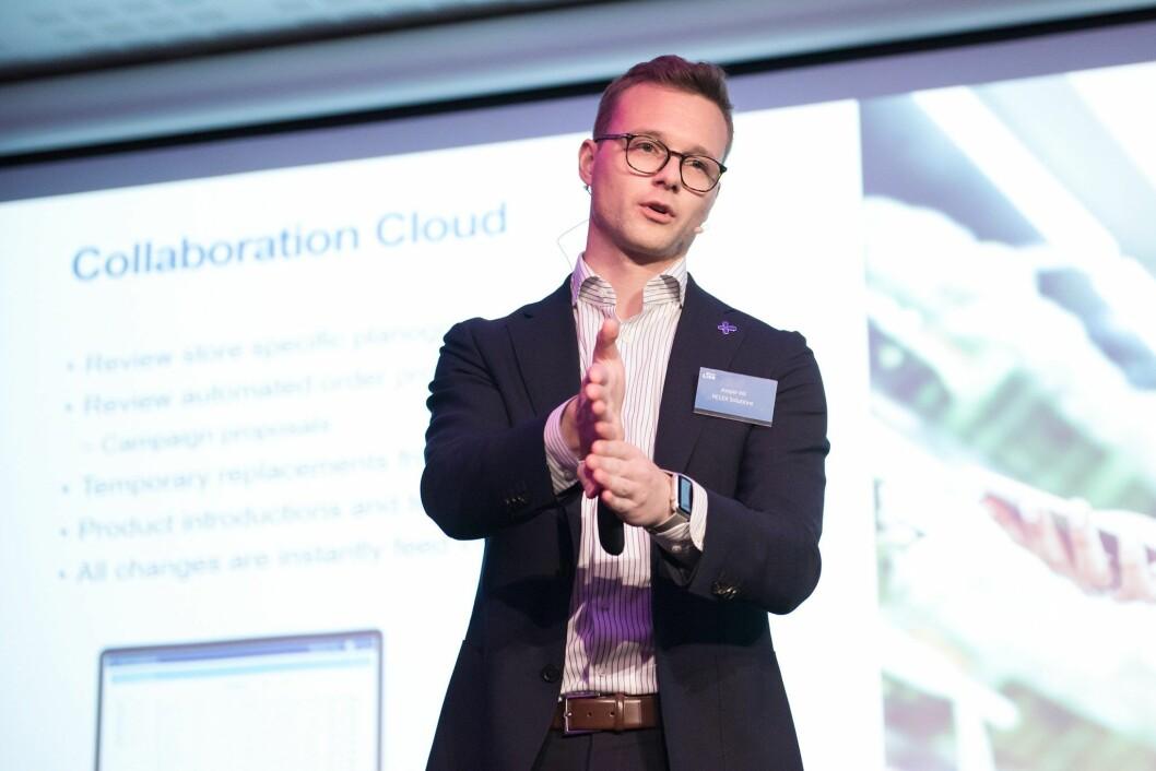 Kasper Kiil, Project Manager i RELEX, ga deltakerne et innblikk i hvordan Coop Danmark bruker RELEX som planleggings- og optimeringsverktøy.