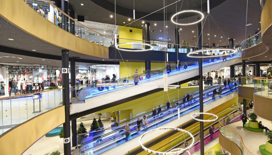 60 prosent i Vestland planlegger å besøke kjøpesenter de neste to ukene. Ill. foto fra Lagunen i Bergen.