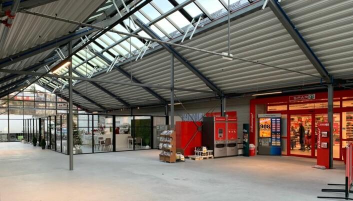 Leietakerne har allerede flyttet inn i 'den nye delen' i mellombygget. (Foto: Fjord'n Senter)