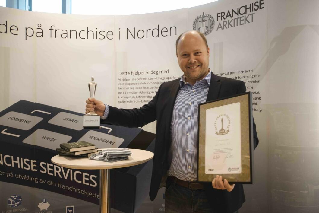 I mars fikk Jan Stadven fra Kvik æren av å motta prisen Årets Franchisetaker.