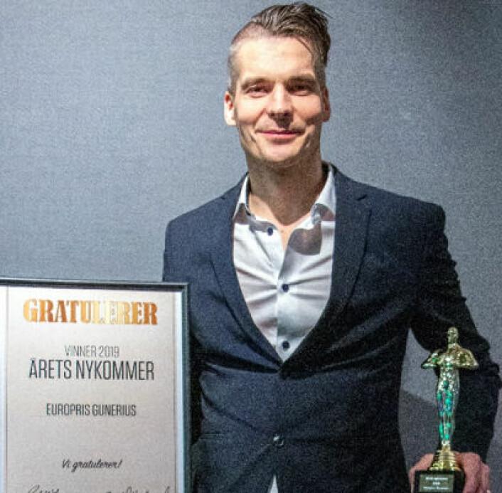 Suksess for Europris' City-konsept der Rune Vålbekk, butikksjefen i Europris Gunerius i Oslo, mottok en velfortjent pris.