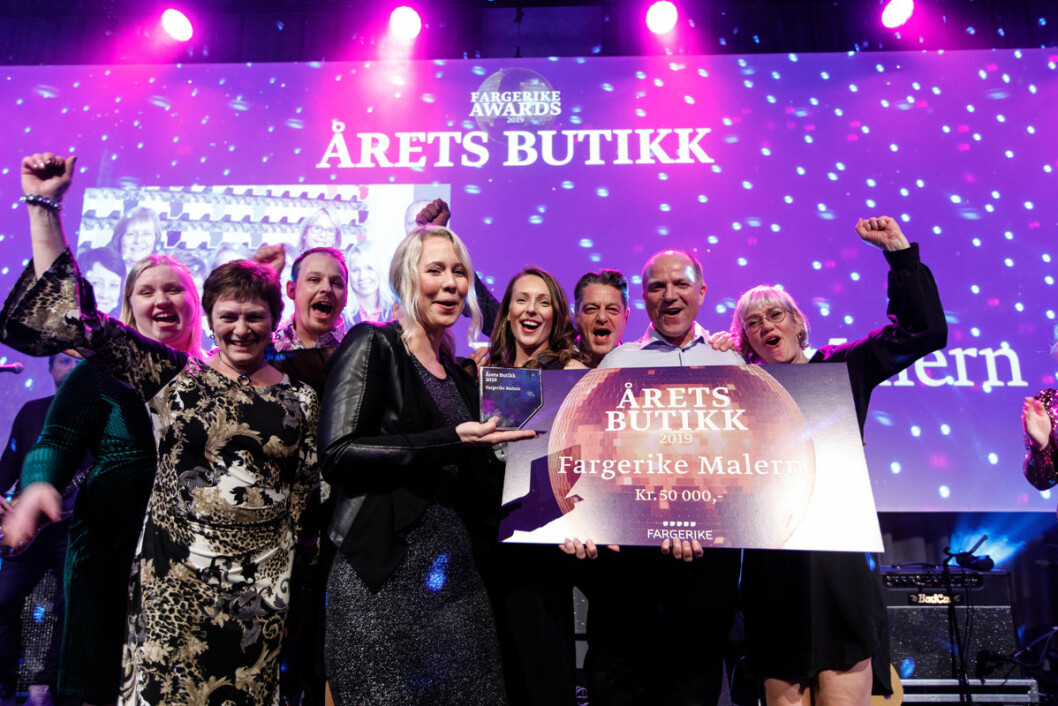 Fargerike Malern i Mysen ble kåret til «Årets Butikk» 2019.