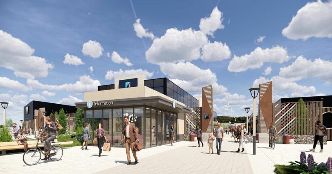 Oslo Fashion Outlet i gang med en større oppgradering av senteret (Foto: OFO)