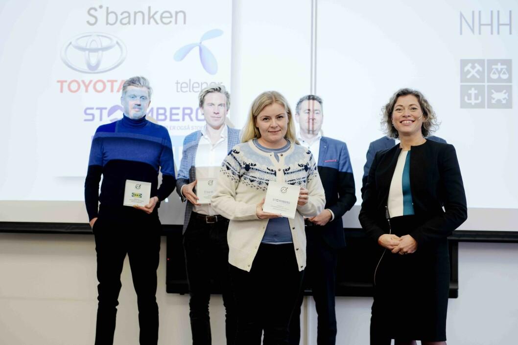 Daglig leder Hege Nilsen Ekberg i Stormberg mottar innovasjonsprisen. Foto: Siv Dolmen