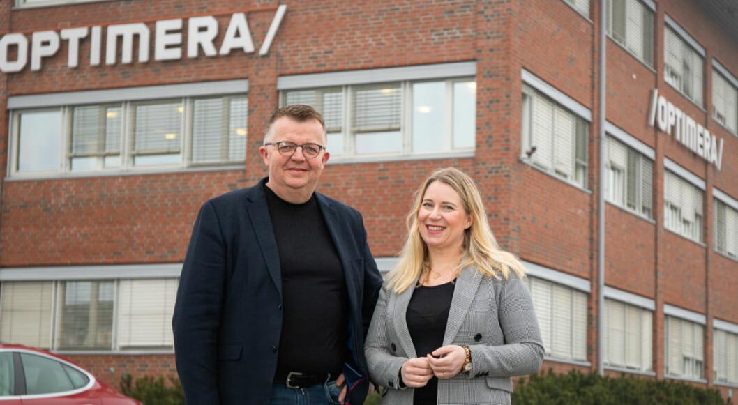 Odd Treffen i Optimera og Kari Sæther Nilsen i Miljøfyrtårn.