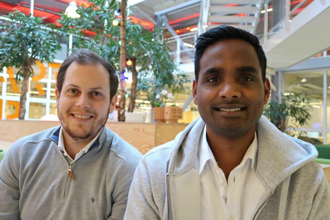Magnus Gleditsch og Daro Navaratnam i Dintero utvikler betalings- og omnikanalløsninger for retail.