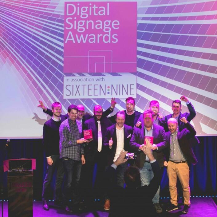 Glade vinnere av Digital Signage Awards. (Foto: Melanie Lemahieu)