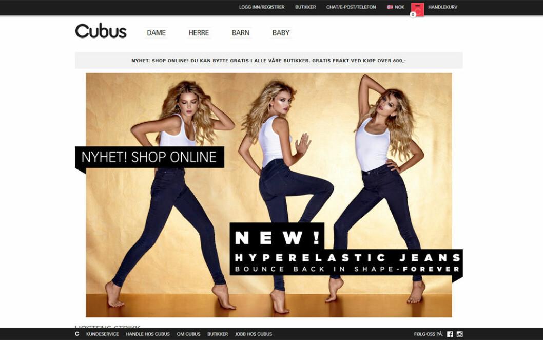 NETTBUTIKK: Cubus lanserer egen nettbutikk i Norge og Sverige.