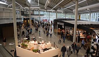 Omsetningsvekst for kjøpesenter, unntatt på Vestlandet