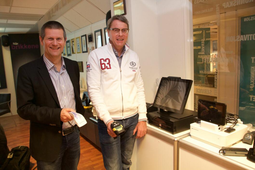 Lars Peter Dahl og Bjørn Berg i EET Europarts. Foto: Nils Vanebo