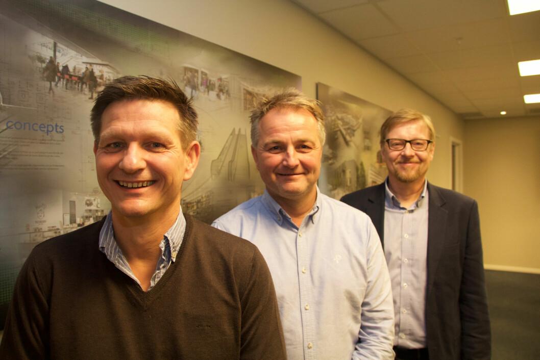 Magne Eriksen, Calle Evenrud og Bill Engeness i Citycon fronter kjøpesenterkjedens miljø- og energisatsing, ikke bare i Norge med i hele Skandinavia.