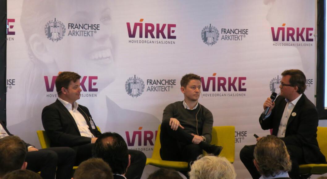 Jonas Ideström ledet paneldebatten på Franchisekonferansen i fjor.