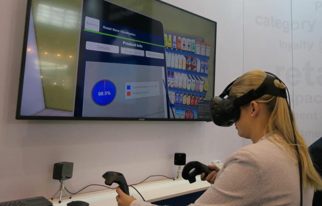 Organisering av butikklayout og shoppingopplevelsen kan simuleres svært realistisk med VR-utstyr.