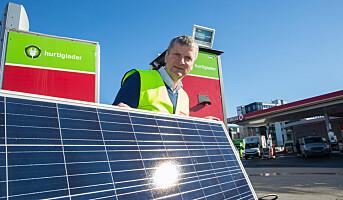 Første norske bensinstasjon med solkraft