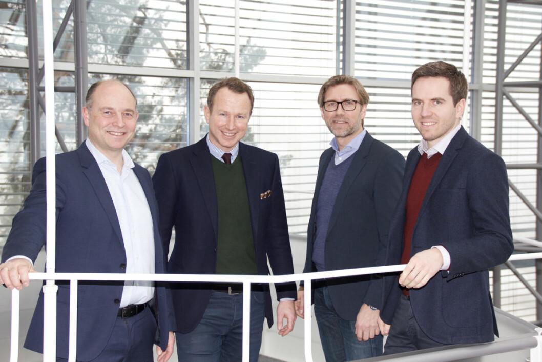 Frode Finsrud, Magne Lome, Fredrik Vegsgaard og er Lars Lyngstad er de fire partnerne i Cappa. Foto: Nils Vanebo